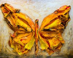 JUSTIN GAFFREY60X48-2013-314.jpg- Acrylic on Panel - Sculpted Series - Butterfly