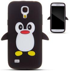 Zooky® Noir pingouin silicone Coque / Étui / Cover pour Samsung Galaxy S4 MINI (I9190): Amazon.fr: High-tech