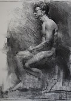 Art - Drawing - Charcoal Figure
