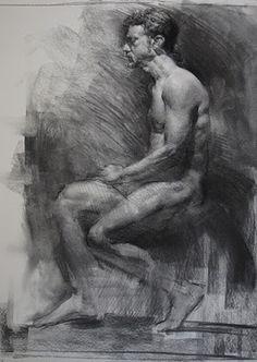 Art - Drawing - Charcoal Figure