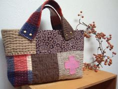 inspiration . quilted tote bag