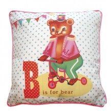 Decoration - coussin ours wu vente accessoires et objets décoration enfants : My Little Bazar.