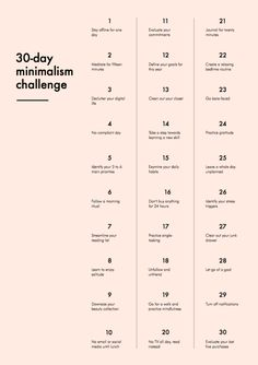 The 30-Day Minimalism Challenge