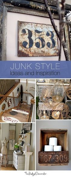Junk Style Decorating • Ideas, Inspiration & lots of Tutorials! by ANGI999