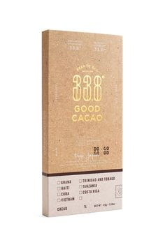 CLIENT : GOOD CACAO DATE : 2017 Cool Packaging, Coffee Packaging, Brand Packaging, Packaging Design, Branding Design, Packaging Ideas, Chocolate Cube, Chocolate Brands, Cake Branding