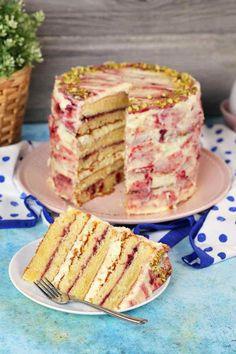 A legkrémesebb meggyes márványtorta | Street Kitchen Torte Cake, No Salt Recipes, Cream Cake, Confectionery, Cakes And More, Yummy Cakes, Vanilla Cake, Food To Make, Food Porn