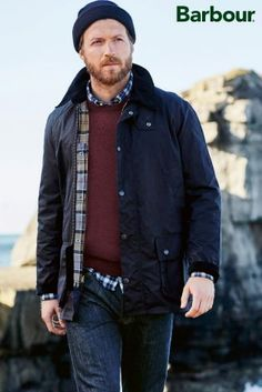 Buy Barbour® Ashby Waxed Jacket from the Next UK online shop Barbour Jacket Outfit, Barbour Jacket Mens, Wax Jackets, Men's Coats And Jackets, Barbour Ashby, Stylish Men, Men Casual, Mens Outdoor Fashion, Grey Hair Men