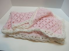 Hand Crocheted Pink and White Baby Girl by TinasTreasureIsland, $35.00