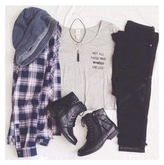 23 Awesome Grunge Outfits Ideas for Women 23 Awesome Grunge ideas outfits. From boots, to shorts, to accessories. Everything you'll need to pull off that grunge style. Grunge Outfits, Flannel Outfits, Winter Outfits, Casual Outfits, Cute Outfits, Flannel Shirt, Red Shirt, K Fashion, Grunge Fashion