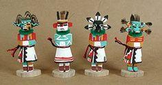 Native American Hopi kachina dolls