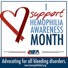 March is Hemophilia Awareness Month! HFA will be posting a fact each day this month to honor our history and raise awareness about #bleedingdisorders! Support this awareness campaign by changing your Facebook profile picture to this image and share these daily facts with your family and friends.  March 1st fact: In the United States, approximately 20,000 people are living with #hemophilia and 1-2% of the population is living with von Willebrand Disease (vWD).