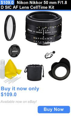 Camera Photo: Nikon Nikkor 50 Mm F/1.8 D Sic Af Lens Celltime Kit BUY IT NOW ONLY: $109.0
