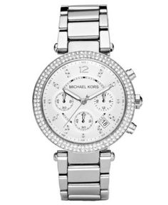 Michael Kors Women's Chronograph Parker Stainless Steel Bracelet Watch 39mm MK5353 - Silver