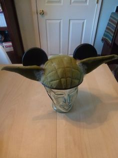 Star Wars Mickey Mouse ears made by Etsy seller And The Thread Goes On: Yoda