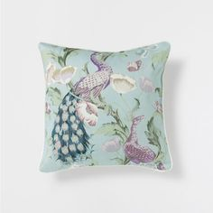 PEACOCK PRINT LINEN CUSHION - Bedroom - Flora Collection | Zara Home United States