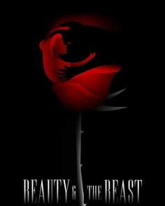 A magnificent poster for The Enchanted Rose which shows the Belle and the Beast Credit to the creative designer on DeviantArt