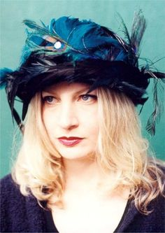 Hat Feather Covered Wool Derby by BoringSidney on Etsy, $205.00