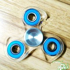 Sunnytech 1PC Fidget Spinner Toy EDC Exquisite Hand Spinner DIY Puzzels for ADHD Anxiety Boredom HS27-1 Blue