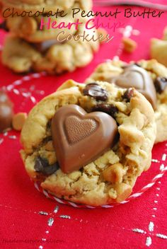Chocolate Peanut Butter Heart Chip Cookies « The Domestic Rebel
