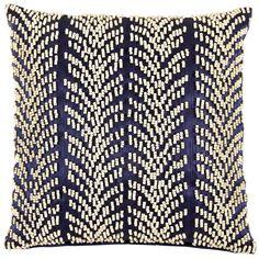 John Robshaw Textiles - Palawan Decorative Pillow - Tablas  - banana fiver & beading