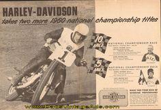 1960 Harley-Davidson / Carroll Resweber Championship Race 2-Page Ad
