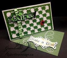Quietfire Creations: Slainte - Make a Wish Side Easel Card