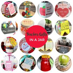 teacher gifts in a jar
