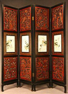 LINWOODS AUCTION - Asian Furniture Asian Furniture, Vintage Furniture, Painted Furniture, Asian Home Decor, Screens, Interior Decorating, Auction, Art Deco, Living Room