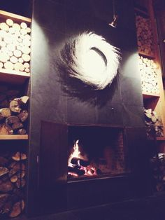 Beautiful fireplace at the Sacacomie resort Painting, Travel, Beautiful, Home Decor, Art, Art Background, Viajes, Decoration Home, Room Decor