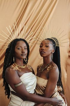 using influences from Afro / Indigenous / Melanin roots and accentuating the beautiful skin pigments with hues of gold / yellow / orange creating a regal and ethereal essence Black Women Art, Beautiful Black Women, Black Girls, Pretty People, Beautiful People, Shooting Photo, Afro Punk, Black Girl Magic, Dark Skin