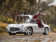 Check out those gull wings! Ultra-Rare AMG Mercedes-Benz 300SL Up For Sale. How much? Click on the pic to find out...
