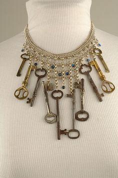 OLD KEYS...Smoke signals jewelry-keeper of the keys