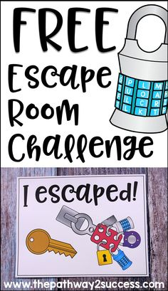 This free escape room activity is a puzzle challenge related to executive functioning skills. Students can work together or independently to solve a puzzle and discover the secret phrase to unlock the door and win the challenge in a specified amount of ti