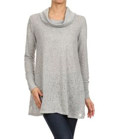 Look what I found on #zulily! Gray Cowl Neck Top by J-Mode USA Los Angeles #zulilyfinds