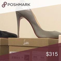 Gray Pigalle Follies 100mm Gorgeous gray Christian Louboutin pumps Christian Louboutin Shoes Heels