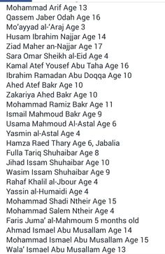 Children killed by Israel during Operation Protective Edge  This is a War Crime