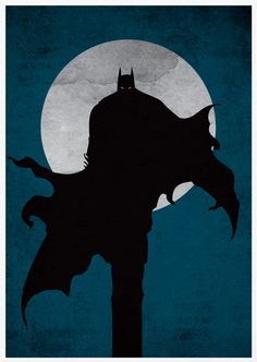 Batman Poster A3 Print. $18.00, via Etsy.
