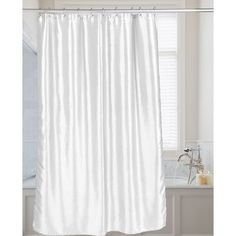 Andover Mills Shimmer Faux Silk Shower Curtain Color: White