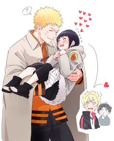 I feel you Boruto.....I really do, Naruto, Hinata, Boruto, Himawari