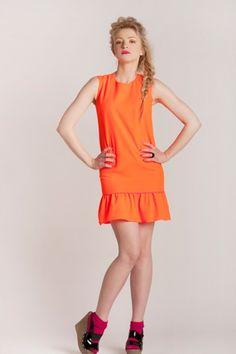 Barbara Kurdej - Szatan Naranja Dress www.melismee.com