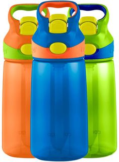 10. Contigo AUTOSPOUT Kids Striker Water Bottle 3-pack (14oz)