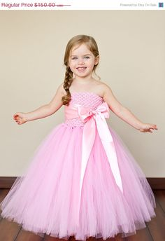20% OFF SALE Posey Flower Girl Tutu Dress with Liner and Customizable Sash