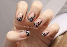 neon leopard print tips!
