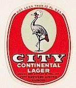 City Continental Nairobi Lager Label
