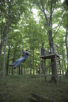 They Built A Zip Line On Their Property.