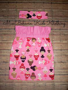 Girls High Waist Skirt/ Ann Kelle Girlfriends/ Girls clothes