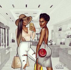 Black is beautiful Art Black Love, Black Girl Art, My Black Is Beautiful, Black Girls Rock, Black Girl Magic, Simply Beautiful, Arte Black, Natural Hair Art, Black Artwork