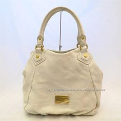Marc by Marc Jacobs M3134069-81270 Classic Q Fran Tote Handbag in White Birch