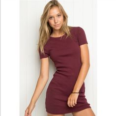 Brandy Melville maroon Janelle dress NWT Brandy Melville Dresses