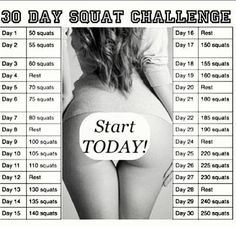 "STARTING TOMORROW. This definitely qualifies as ""my body will hate me"" but it is totally worth it lol.... 250 squats in a month?!!"